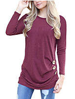 cheap -Women's Active Basic T-shirt - Solid Colored
