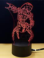 abordables -1pc Veilleuse 3D Changer USB Soulagement de stress et l'anxiété Décoration Sécurité Créatif Couleurs changeantes 5V