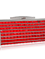 cheap -Women's Bags Polyester Evening Bag Crystal Detailing for Event / Party Casual All Seasons Blue Black Red