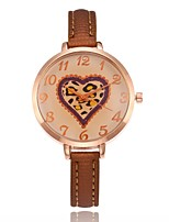Недорогие -Жен. Кварцевый Нарядные часы Модные часы Повседневные часы Китайский Повседневные часы PU Группа Heart Shape Мода Черный Белый Синий