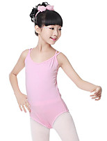 cheap -Ballet Leotards Girls' Training Performance Cotton Criss Cross Sleeveless Natural Leotard / Onesie