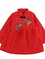 cheap -Kids Girls' Floral Long Sleeves Dress