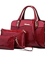cheap -Women's / Unisex Bags PU Leather Bag Set 3 Pcs Purse Set Rivet / Zipper for Event / Party / Formal Blue / Black / Red