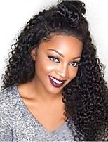 cheap -Remy Human Hair Wig Brazilian Hair Curly Layered Haircut 130% Density With Baby Hair For Black Women Black Short Long Mid Length Women's