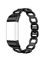 abordables -Ver Banda para Fitbit Charge 2 Fitbit Hebilla Moderna Metal Correa de Muñeca