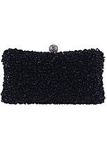 cheap -Women's Bags Polyester Evening Bag Crystals for Wedding / Event / Party Champagne / Black / Silver