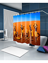 cheap -Shower Curtains & Hooks Classic Neoclassical Polyester Novelty Machine Made Waterproof Bathroom