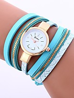 cheap -Women's Quartz Fashion Watch Chinese Casual Watch PU Band Vintage Casual Black White Blue Green Grey Beige