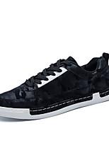 Недорогие -Муж. обувь Тюль Весна / Осень Удобная обувь Кеды Черный / Серый / Хаки
