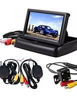 baratos -ZIQIAO Outro CCD Com Fio 170 Graus Monitor de inversão de carro Instalação automática para Carro