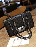 cheap -Women's Bags PU Shoulder Bag Zipper for Casual Office & Career All Seasons Black