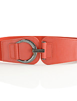 cheap -Women's Party Leather Alloy Wide Belt - Solid Colored