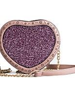 cheap -Women's Bags PU Shoulder Bag Zipper for Casual All Seasons Black Blushing Pink Brown