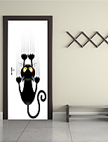 cheap -Animals 3D Wall Stickers Plane Wall Stickers 3D Wall Stickers Fridge Stickers Door Stickers, Vinyl Home Decoration Wall Decal Floor Wall