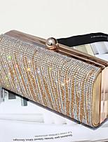 baratos -Mulheres Bolsas PU Bolsa de Mão Botões / Detalhes em Cristal para Festa / Eventos Dourado