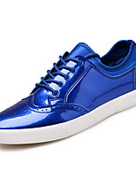 baratos -Homens sapatos Couro Ecológico Outono Conforto Tênis Cinzento / Azul / Roxo Escuro