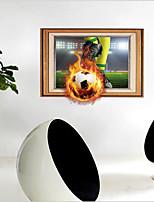 baratos -Autocolantes de Parede Decorativos - Autocolantes 3D para Parede Futebol Americano Sala de Estar Quarto Banheiro Cozinha Sala de Jantar