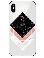 Недорогие -Кейс для Назначение Apple iPhone X iPhone 8 Прозрачный С узором Кейс на заднюю панель Мрамор Мягкий ТПУ для iPhone X iPhone 8 Pluss