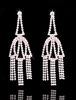 cheap -Women's Tassel Silver Plated Stud Earrings Hoop Earrings - Tassel Fashion Line Irregular For Wedding Party / Evening