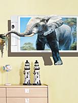baratos -Autocolantes de Parede Decorativos - Autocolantes 3D para Parede Etiquetas de parede de animal Animais Sala de Estar Quarto Banheiro