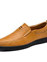 cheap -Men's Shoes Cowhide Spring Fall Comfort Loafers & Slip-Ons for Casual Office & Career Black Light Brown Dark Brown