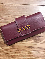 cheap -Women's Bags PU Wallet Buttons Purple / Brown / Wine