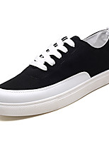 cheap -Men's Shoes Canvas / Fabric Spring / Summer Comfort Sneakers Black / Red