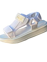 cheap -Girls' Shoes Tulle Summer Comfort Sandals Hook & Loop for Kids Children's Casual Outdoor White
