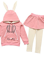 cheap -Kids Girls' Solid Colored 3/4 Length Sleeves Clothing Set