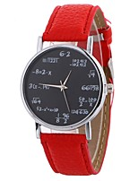 cheap -Women's Quartz Wrist Watch Chinese Casual Watch PU Band Casual Fashion Black White Blue Red Brown Green Pink Fuchsia Sky Blue