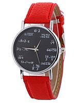Недорогие -Жен. Кварцевый Наручные часы Китайский Повседневные часы PU Группа На каждый день Мода Черный Белый Синий Красный Коричневый Зеленый