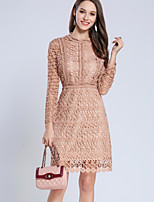 cheap -SHE IN SUN Women's Basic Street chic Sheath Dress - Solid Colored Lace