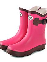 abordables -Fille Garçon Chaussures Gomme Printemps Automne Bottes de pluie Confort Bottes Bottes Mi-mollet pour Décontracté De plein air Rouge Bleu