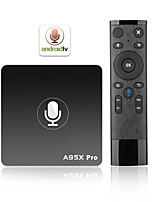 abordables -A95X PRO Android7.1.1 Box TV Amlogic S905W Quad Core 2GB RAM 16GB ROM Penta Core