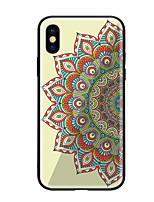 abordables -Coque Pour Apple iPhone X iPhone 8 Motif Coque Mandala Dur Verre Trempé pour iPhone X iPhone 8 Plus iPhone 8 iPhone 7 iPhone 6s Plus