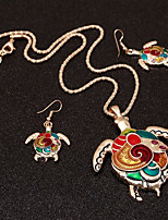 cheap -Women's Colorful Jewelry Set 1 Necklace Earrings - Colorful Ethnic Turtle Jewelry Set For Bar Club