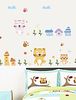 cheap -Wall Decal Decorative Wall Stickers - Plane Wall Stickers Animals Re-Positionable Removable