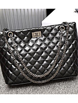 cheap -Women's Bags PU Shoulder Bag Zipper for Event / Party Black