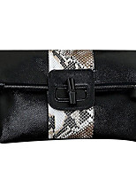 cheap -Women's Bags Leather Evening Bag Zipper White / Black