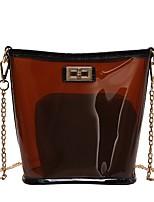 cheap -Women's Bags PVC / PU Shoulder Bag Zipper White / Red / Blushing Pink