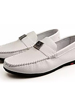 cheap -Men's Shoes Synthetic Microfiber PU Spring Fall Moccasin Loafers & Slip-Ons for Casual White Black Orange