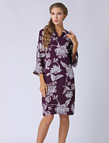 cheap -SHE IN SUN Women's Basic Street chic Flare Sleeve Shift Dress - Floral Print