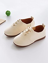 cheap -Girls' Shoes Leatherette Spring Fall First Walkers Comfort Oxfords for Casual Black Beige Light Brown