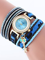 cheap -Women's Quartz Fashion Watch Chinese Imitation Diamond Casual Watch PU Band Casual Bohemian Black White Blue Red Brown