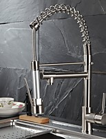 abordables -Robinet de Cuisine - Moderne Nickel brossé Pull-out / Pull-down Vasque