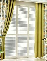 abordables -Rideaux Tentures Salle de séjour Couleur Pleine Fleur Moderne Coton / Polyester Imprimé