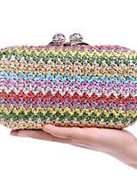 preiswerte -Damen Taschen Stroh Abendtasche Knöpfe für Veranstaltung / Fest Normal Ganzjährig Regenbogen
