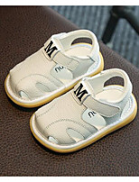 cheap -Girls' Boys' Shoes Cowhide Summer First Walkers Comfort Sandals for Casual White Yellow Pink