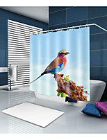 cheap -Shower Curtains & Hooks Classic Country Polyester Contemporary Animal Machine Made Waterproof Bathroom
