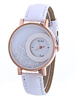 cheap -Women's Quartz Fashion Watch Chinese Large Dial PU Band Casual Fashion Black White Blue Red Orange Brown Pink Purple